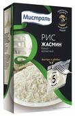 Рис Мистраль Жасмин белый ароматный шлифованный длиннозерный 400 г
