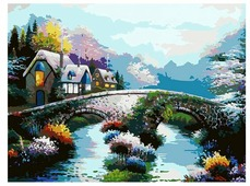 """Белоснежка Картина по номерам """"Старинный мост"""" 30х40 см (169-AS)"""
