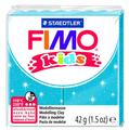 Полимерная глина FIMO kids 42 г блестящий синий (8030-312)