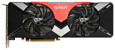 Видеокарта Palit GeForce RTX 2080 1515MHz PCI-E 3.0 8192MB 14000MHz 256 bit HDMI HDCP Dual
