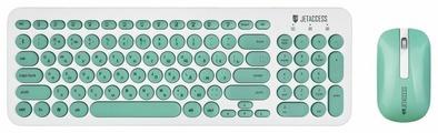 Клавиатура и мышь Jet.A Slim Line KM30W White-Turquoise USB