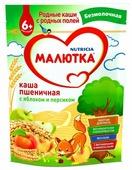Каша Малютка (Nutricia) безмолочная пшеничная с яблоком и персиком (с 6 месяцев) 200 г
