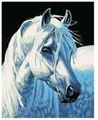 """Белоснежка Картина по номерам """"Белая лошадь"""" 30х40 см (230-CE)"""