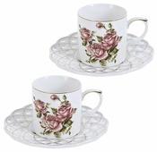 """Best Home Porcelain Кофейный набор """"Рубиновые розы"""" 4 предмета, 175 мл (подарочная упаковка)"""