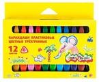Каляка-Маляка Восковые карандаши трехгранные 12 цветов (КПКМ12)