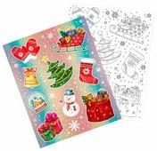 Наклейка интерьерная Феникс Present Новогодние картинки 30 x 38 см
