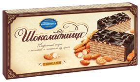 Торт Шоколадница вафельный с миндалем