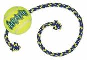 Мячик для собак KONG Air теннисный средний с канатом (AST21)