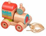 Каталка-игрушка Lucy & Leo Паровозик-пирамидка (LL157)