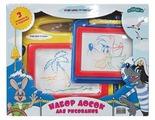 Доска для рисования детская Затейники Ну, Погоди! с трафаретами (GT8858)