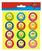 Апплика Наклейки поощрительные для школы и детского сада Смайлики, 36 шт. (С3366)