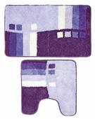 Комплект ковриков Milardo 490PA58M13, 50х80 см, 50х50 см