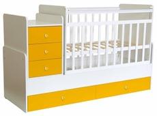 Кроватка Polini Simple 1111 с комодом (трансформер)