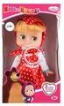 Интерактивная кукла Карапуз Маша и Медведь, в платье в горох, 25 см 83033B