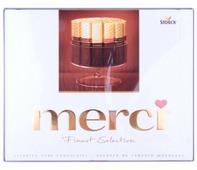 Набор конфет Merci Ассорти из темного шоколада 250 г
