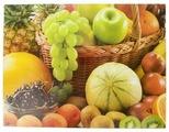 Разделочная доска Best Home Kitchen 5341029 Фруктовый урожай 40x30x0,5 см рифленая