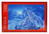 Пазл Рыжий кот Волки и ночные горы (МГ1000-7341), 1000 дет.