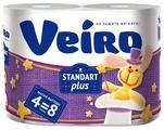 Туалетная бумага Veiro Standart Plus белая двухслойная