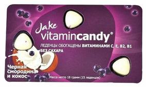 Леденцы Jake vitamincandy Черная смородина и кокос 18 г
