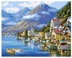 """Белоснежка Картина по номерам """"Хальштадт. Австрия"""" 40х50 см (363-CG)"""