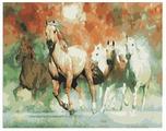 """Рыжий кот Картина по номерам """"Пять лошадей"""" 40х50 см (PP051)"""