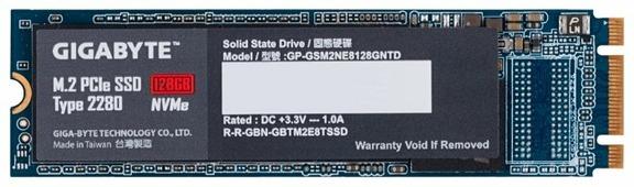 Твердотельный накопитель GIGABYTE M.2 PCIe SSD 128GB (GP-GSM2NE8128GNTD)
