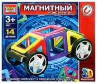 Магнитный конструктор ГОРОД МАСТЕРОВ Магнитный 4027 Машинка