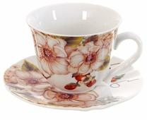 """Best Home Porcelain Набор чайных пар """"Chance"""" 4 предмета, 220 мл (подарочная упаковка)"""