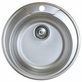 Врезная кухонная мойка Kromrus EC-246 51х51см нержавеющая сталь