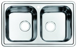 Врезная кухонная мойка IDDIS Strit STR78S2i77 78х48см нержавеющая сталь