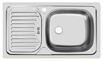 Врезная кухонная мойка UKINOX Classic CLM 760.435-GW6K 76х43.5см нержавеющая сталь