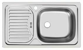 Врезная кухонная мойка UKINOX Classic CLL 760.435-GW6K 76х43.5см нержавеющая сталь