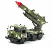Ракетная установка ТЕХНОПАРК ГАЗ 66 Вооруженные силы (CT-1299-R-3) 1:43