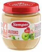 Пюре Semper яблоко (с 4 месяцев) 125 г, 12 шт.
