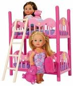 Набор 2 куклы Simba Еви с кроваткой, 12 см, 5733847