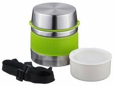 Термос для еды Agness с пластиковым контейнером (0,75 л)