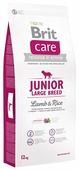 Корм для щенков Brit Care ягненок с рисом (для крупных пород)