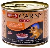 Корм для котят Animonda Carny беззерновой, с курицей, с телятиной (паштет)