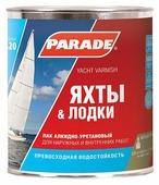 Лак яхтный Parade L20 Яхты & Лодки полуматовый (10 л) алкидно-уретановый