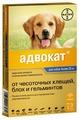 Адвокат (Bayer) Капли от чесоточных клещей, блох и гельминтов для собак более 25 кг (3 пипетки)