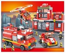 Конструктор SLUBAN Пожарные спасатели M38-B0226