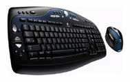 Клавиатура и мышь Logitech Cordless Desktop MX 3100 Black USB+PS/2