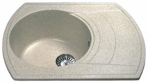 Врезная кухонная мойка Ulgran U-206 64х48.5см искусственный мрамор