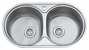 Врезная кухонная мойка Ledeme L87944B 79х44см нержавеющая сталь