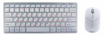 Клавиатура и мышь Gembird KBS-7001 White USB