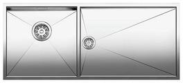 Интегрированная кухонная мойка Blanco Zerox 400/550-T-IF 101.5х44см нержавеющая сталь