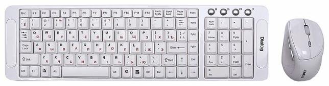 Клавиатура и мышь Dialog KMRLK-0318U White USB