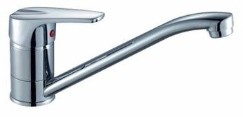 Однорычажный смеситель для кухни (мойки) Rossinka Silvermix D40-21U