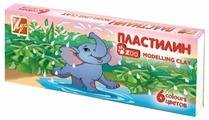 Пластилин Луч Zoo 6 цветов (19С1271-08)