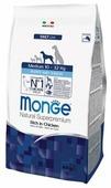 Корм для щенков Monge Daily Line для здоровья костей и суставов, курица (для средних пород)